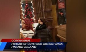 BUSTED: Rhode Island's Dem Governor Caught Maskless at Wine Bar After Telling People to Stay Home
