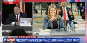 President Trump Calls Into Hearing on Voting Irregularities in Arizona, Blasts RINO Gov. Doug Ducey (VIDEO)
